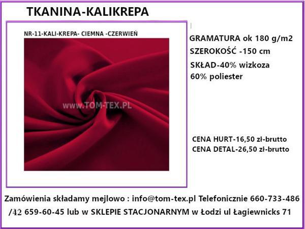 kali krepa 11 cimna czerwien (Custom)